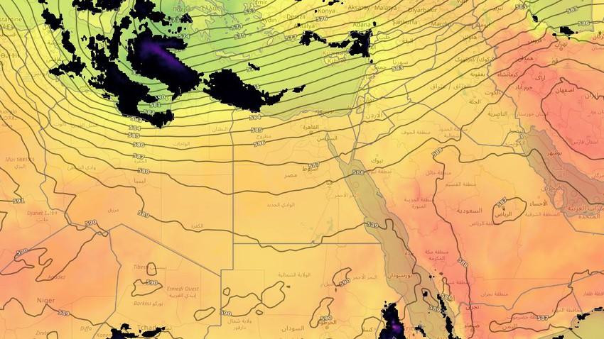 مصر | ارتفاع مؤقت على درجات الحرارة في عموم المناطق وفرصة ضعيفة لزخات متفرقة من الأمطار على السواحل الشمالية يوم الإثنين