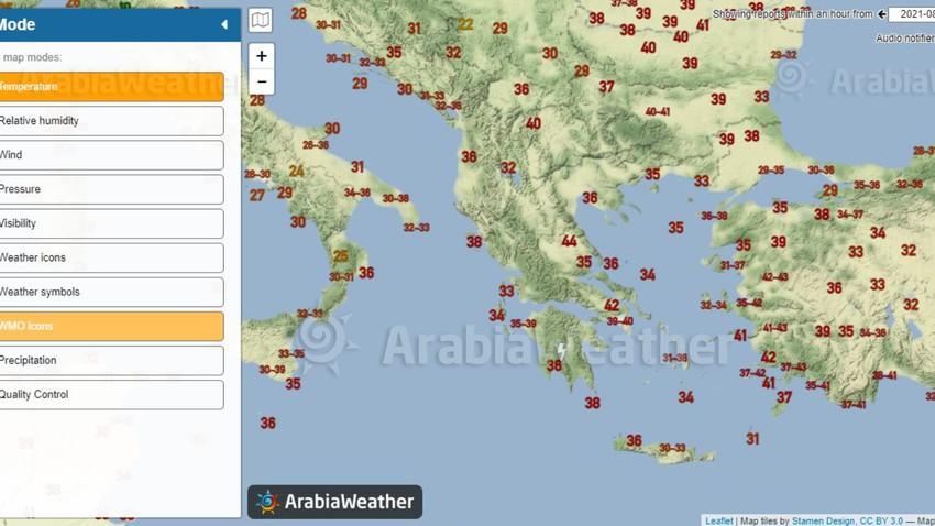 درجات حرارة أربعينية تُسجل الأن في مناطق واسعة من جنوب شرق القارة الأوروبية.. فهل ذلك يُعتبر استثنائياً؟