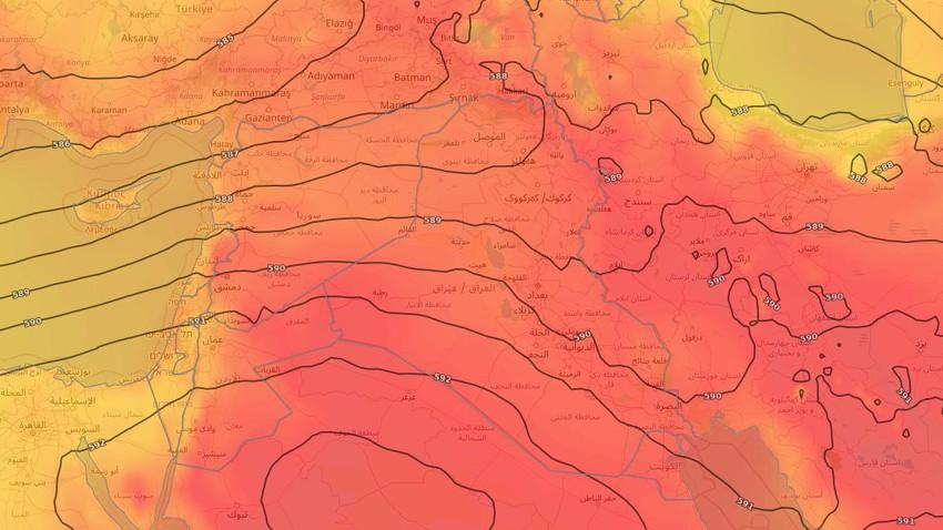 العراق   ارتفاع تدريجي على درجات الحرارة في عموم المناطق خلال الأيام القادمة