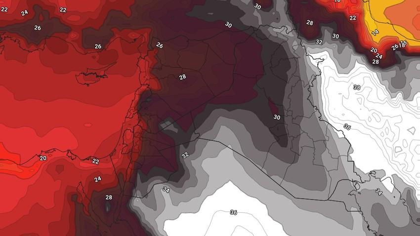 الأردن   استمرار سيطرة كتلة هوائية حارة نسبياً على المملكة خلال عطلة نهاية الأسبوع