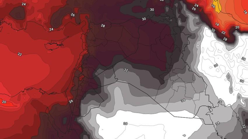 الأردن | كتلة هوائية حارّة تقترب من المملكة وعودة ارتفاع درجات الحرارة اعتباراً من الأربعاء