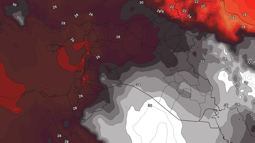 الأردن | استمرار سيطرة كتلة هوائية حارة نسبياً على المملكة ومؤشرات على اشتدادها نهاية الأسبوع الحالي