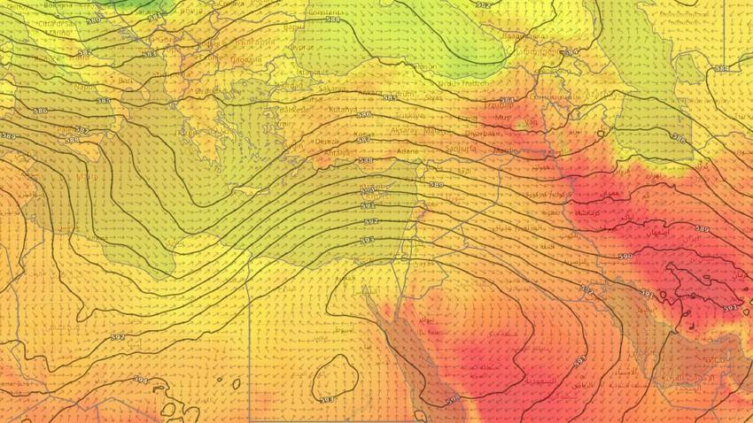بلاد الشام | درجات حرارة دون معدلاتها وليالي مائلة للبرودة منتظرة حتى نهاية الاسبوع