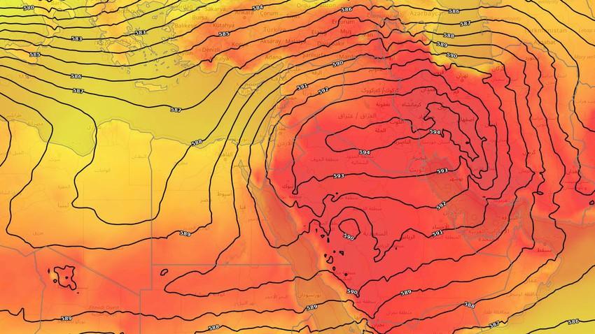 بلاد الشام | طقس صيفي اعتيادي النصف الأول من الأسبوع وكتلة حارة جديدة اعتباراً من الأربعاء