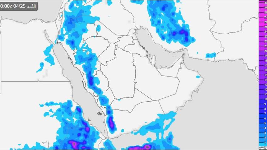 اليمن | أحوال جوية غير مستقرة نهاية الأسبوع تترافق مع تكاثر السحب الرعدية وهطول الامطار في المرتفعات الغربية