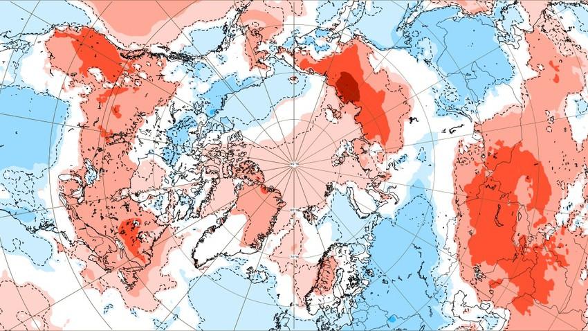 هام | موجات الحر تضرب القطب الشمالي وذوبان متسارع للجليد والأيام القادمة تحمّل المزيد