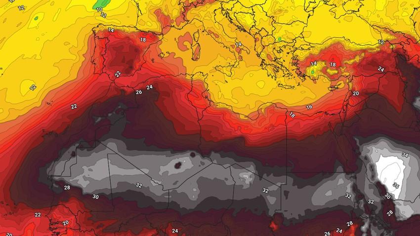 الجزائر   ارتفاع ملموس على درجات الحرارة وتراجع فُرص الأمطار عن معظم المناطق اعتباراً من الأربعاء