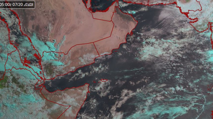 Sultanate of Oman | Satellite images monitor the flow of rain clouds off the coast of Muscat