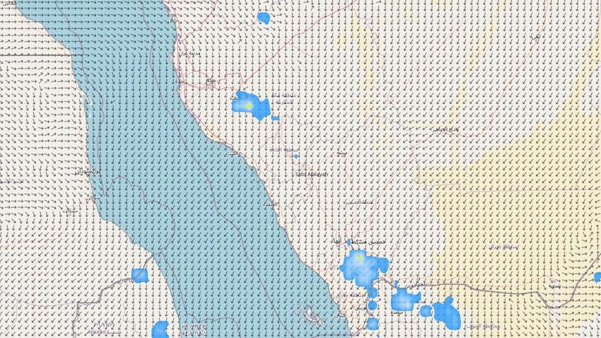 السعودية | المناطق المشمولة بتوقعات الأمطار وغزارتها في المملكة ليوم الخميس
