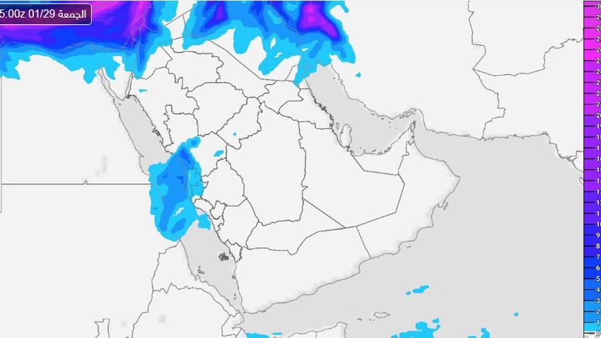 السعودية | فرص الأمطار ستشمل مدينة جدة وهذه المناطق حتى مساء الجمعة