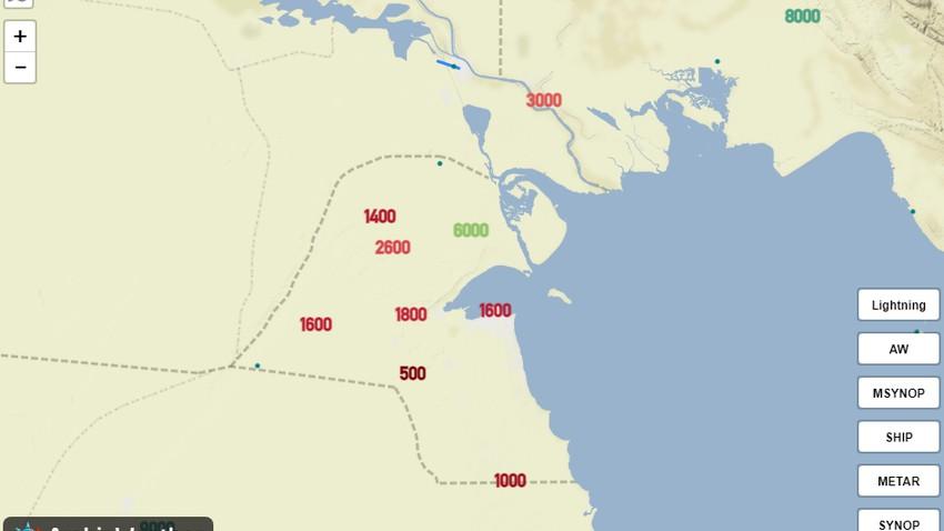 تحديث عصر الجمعة | الغبار ينحسر تدريجياً في الكويت الساعات القادمة وموجة غبارية جديدة متوقعة غداً!