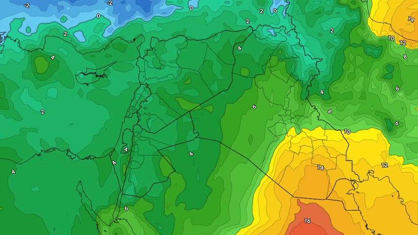 Jordan | A sharp drop in temperatures Thursday, with showers of rain in different regions