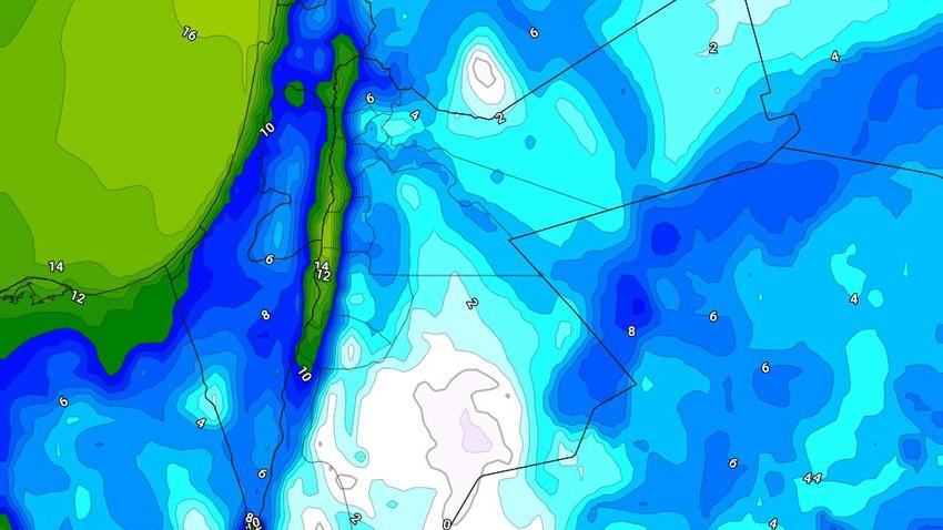 الليلة | تراجع فرص الأمطار و لكن يُتوقع تدفق رياح شديدة البرودة إلى المملكة