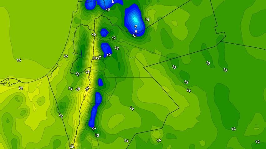 السبت   استمرار الاجواء الباردة مع بقاء فرص الامطار واردة خاصة في ساعات الصباح