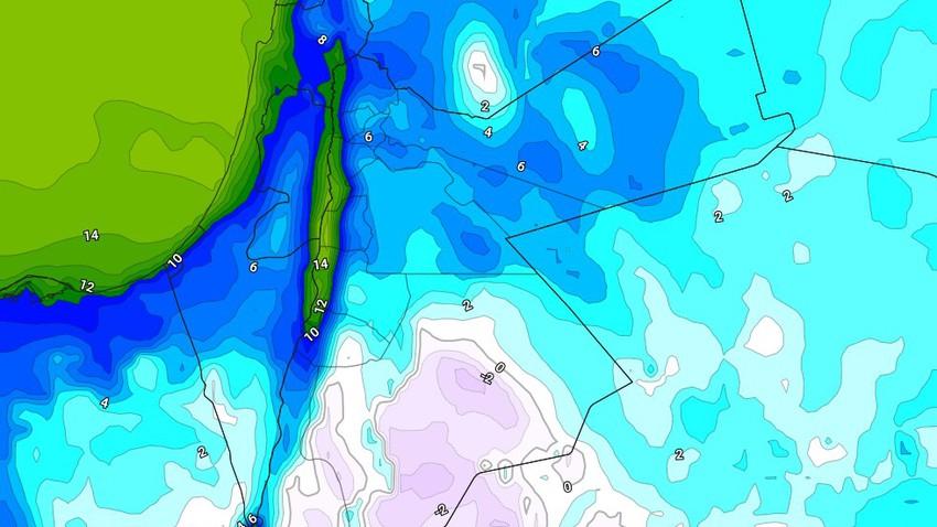 الليلة | استمرار تأثر المملكة بالمنخفض الجوي مع هطول زخات متفرقة من الأمطار