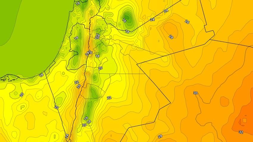 الجمعة   انخفاض ملموس على درجات الحرارة وفرصة لزخات خفيقة من الأمطار في مناطق متفرقة ليلاً