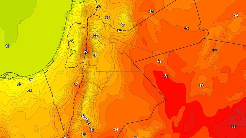 الأربعاء | انخفاض اضافي على درجات الحرارة وفرصة لزخات رعدية من المطر في نطاقات جغرافية ضيقة من جنوب وشرق المملكة