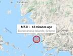 زلزال ضخم يضرب اليونان الان