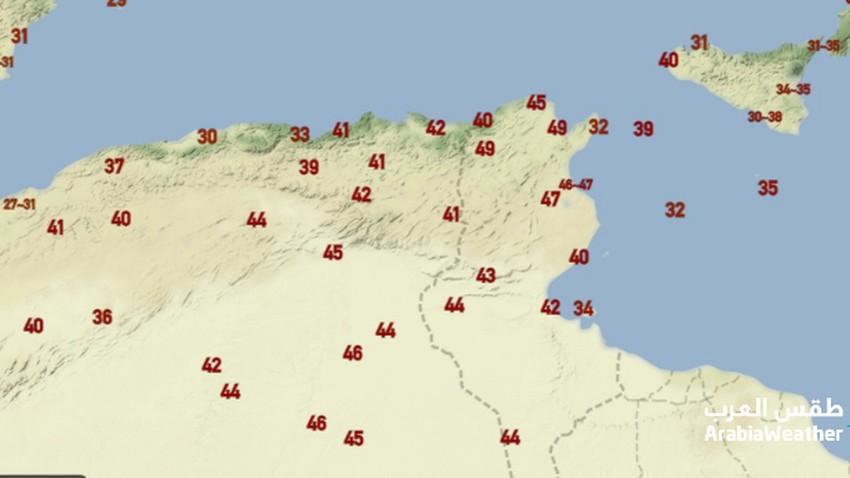 الأعلى منذ 80 عام | العاصمة تونس تسجل درجات حرارة قياسية وغير مسبوقة لامست ال50 درجة الثلاثاء 10/8/2021