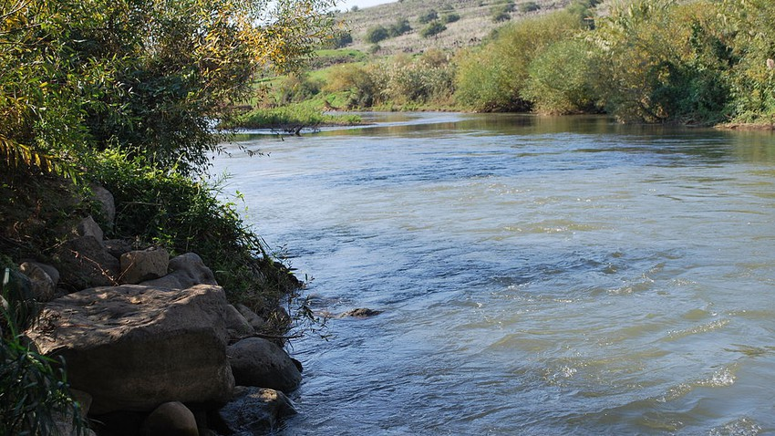 What is the significance of the Jordan River and why is it called by that name?