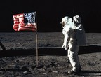 How did the `Apollo 11` flag appear in space despite the absence of air on the moon
