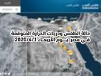 مصر | حالة الطقس ودرجات الحرارة المتوقعة يوم الأربعاء 2020/4/1
