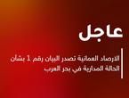 الارصاد العمانية تصدر البيان ١ بشأن الحالة المدارية في بحر العرب
