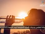 الأردن | حالة الطقس ودرجات الحرارة المتوقعة ليوم الجمعة 3/7/2020