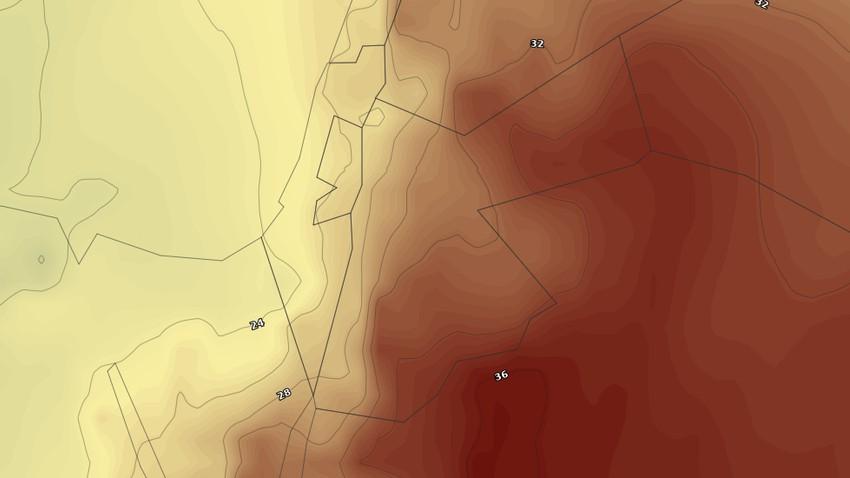 النشرة الأسبوعية للأردن   انخفاض على درجات الحرارة مطلع الأسبوع وكتلة هوائية حارة جديدة إعتباراً من الأربعاء