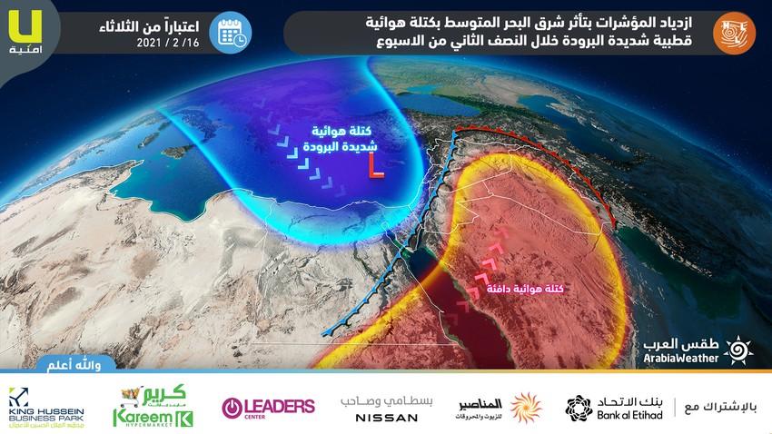 الأردن | ارتفاع على الحرارة الأحد قبل انقلاب جذري بالأجواء خلال النصف الثاني من الأسبوع