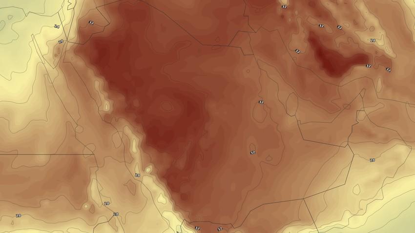 الخليج العربي | درجات حرارة قياسية وأحوال جوية غير مُستقرة وسيول مُحتملة في بعض الاجزاء الأيام القادمة