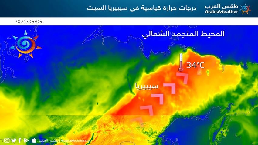 كتلة حارة قياسية تضرب سواحل سيبيريا المتجمدة ومخاوف من ذوبان سريع للجليد