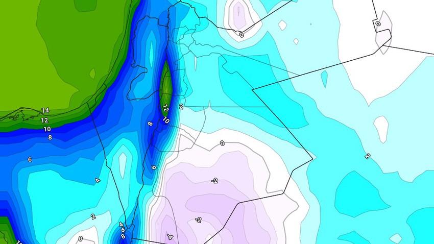الأردن || بدءاً من الليلة طقس سيبيري قارس البرودة ولعدة ايام مُرفق بتدني كبير في درجات الحرارة وموجة جليد وصقيع واسعة النطاق
