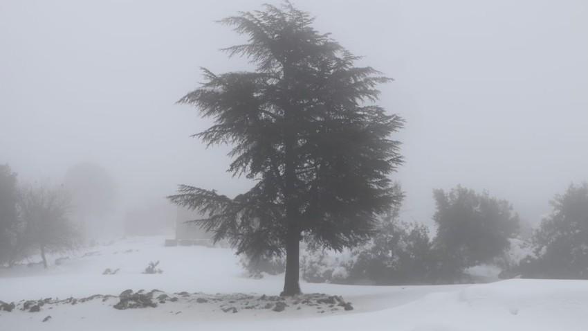 اخلاء وإنقاذ 1034 شخصا حاصرتهم الثلوج في مناطق متعددة بمحافظة عجلون