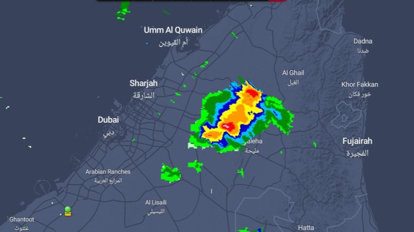 الإمارات - تحديث 3:05م   رصد سُحب رعدية قوية تتحرك غرباً وفرصة لامتداد تأثيراتها نحو دبي والشارقة وعجمان خلال الساعات القادمة