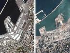 انفجار بيروت وآثار الدمار التي سببها كما ظهرت من الفضاء الخارجي... بالفيديو والصور