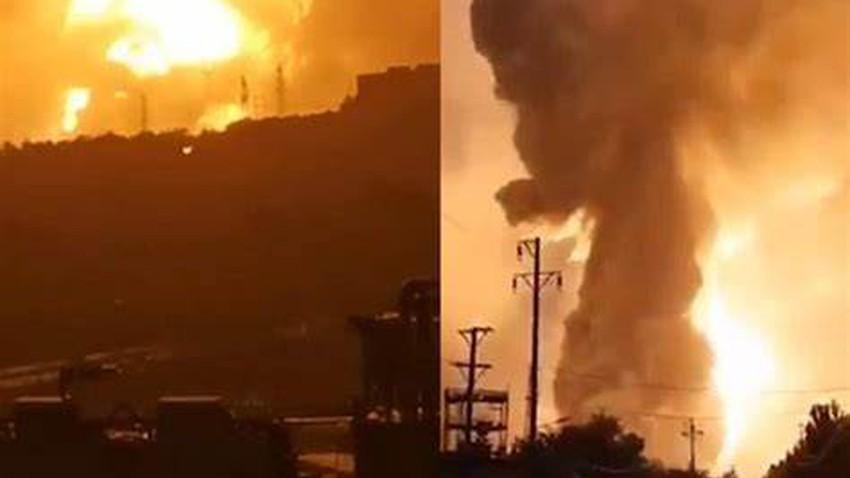 بالفيديو | لحظة انفجار احدى المصانع في الصين بسبب الفيضانات
