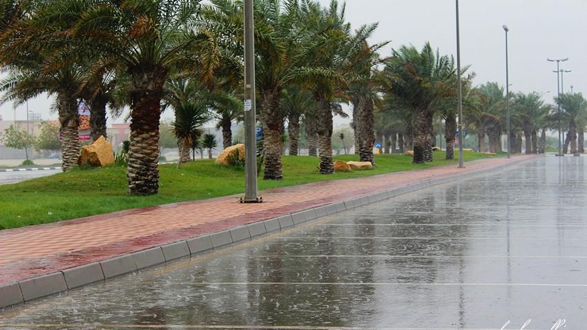 الدمام | عبور لجبهة هوائية باردة و أمطار محتملة ليل الخميس ونهار الجمعة