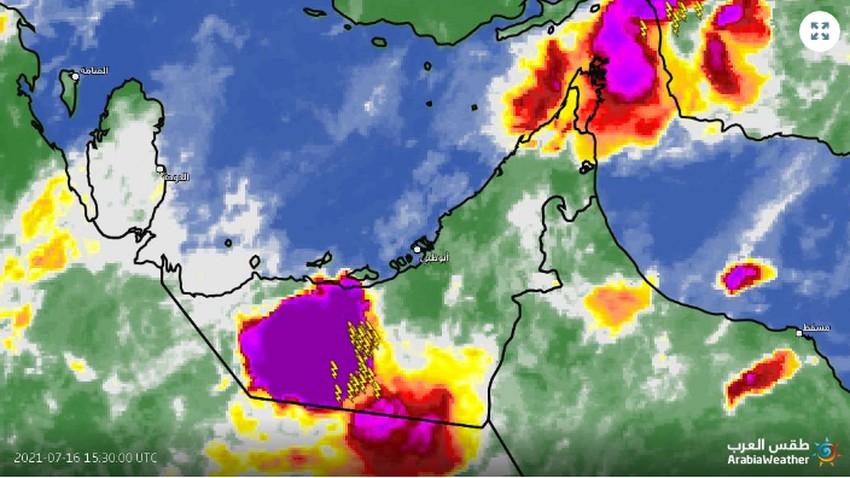 الإمارات - تحديث 8:05م   سحابة رعدية عملاقة تؤثر على المنطقة الغربية من الدولة وتتحرك غرباً