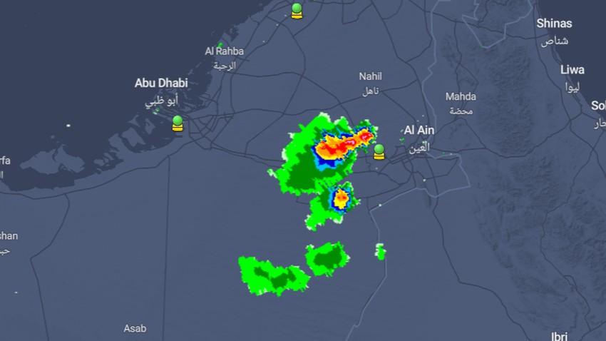 تحديث 5:10م - الإمارات | سحب رعدية قوية ماطرة تؤثر على غرب العين وتوقعات بامتدادها لهذه المناطق خلال الساعات القادمة