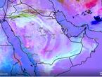 تحديث 3:10م | استمرار الطقس المغبر بشدة متفاوتة في وسط وشرق المملكة