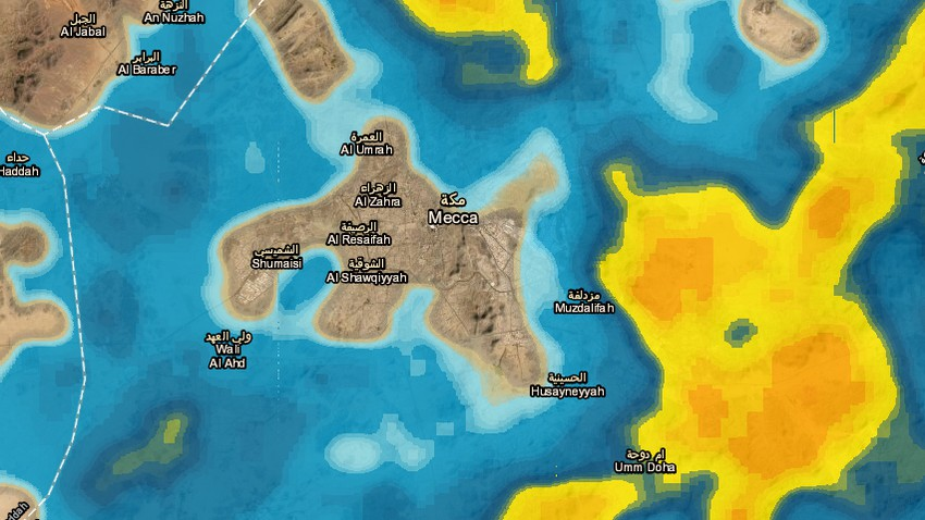 Update 6:00PM | Thunder rain expected in Makkah Al-Mukarramah shortly.. Details