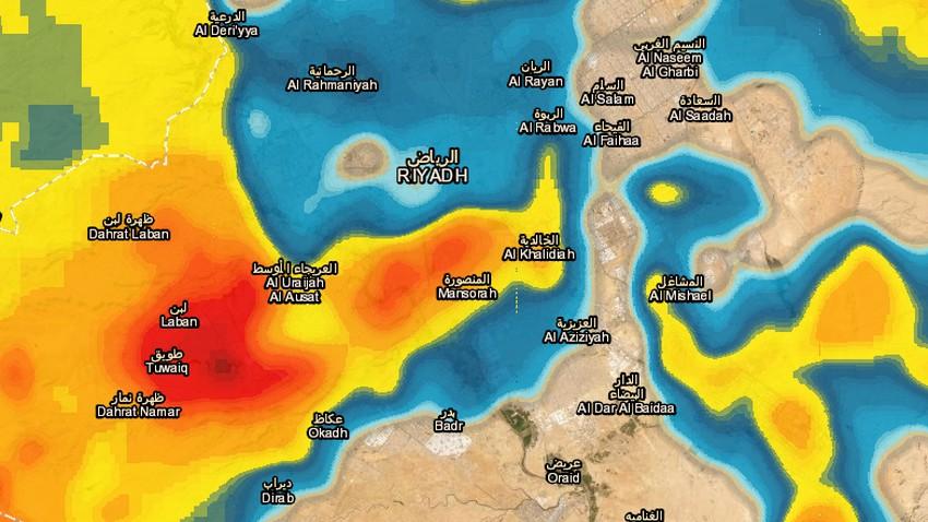 الرياض -تحديث 9:40م | الأمطار الرعدية تتجدد والساعات القادمة تحمل المزيد!