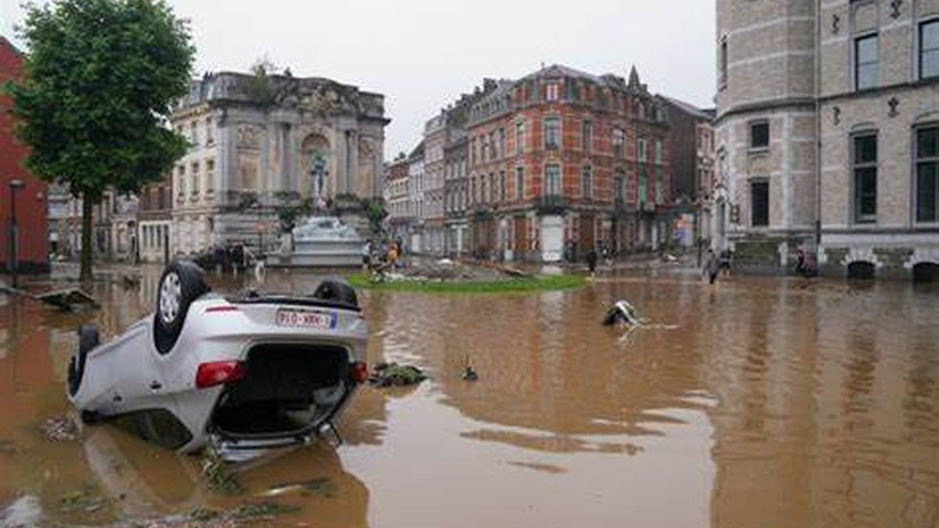 Heavy and rare rain within 72 hours caused historic floods in Germany..Details