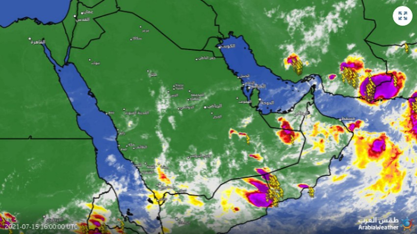 تحديث 7:50م   رسمياً .. بدء تشكل السحب الماطرة في صحراء الربع الخالي