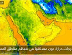 Saudi Arabia | The effect of the air mass with a tendency to cool at night and the temperature in Riyadh will not exceed 20 at night