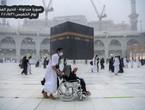 بالفيديو | شاهد غزارة الامطار الآن في مكة المكرمة و الحرم المكي