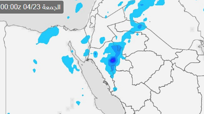 السعودية | فرص للأمطار على أجزاء من شمال السعودية اعتباراً من الأربعاء