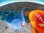 Why are the Levant countries more likely to be affected by hot air masses in other than summer season