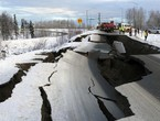 A magnitude 7.5 earthquake strikes off the coast of Alaska